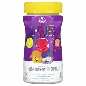 Solgar, U-Cubes, жевательные конфеты для детей с мультивитаминами и микроэлементами, вишня и апельсин, 60 шт.