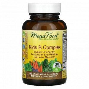 MegaFood, Комплекс витаминов группы B для детей, 30 таблеток