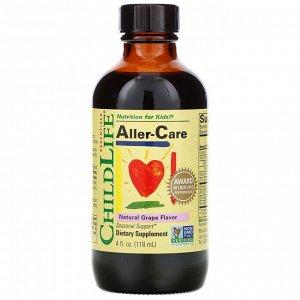 ChildLife, Важные питательные вещества, средство от аллергии, вкус натурального винограда, 118,5 мл