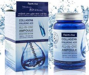 Сыворотка для лица FARMSTAY Collagen & Hyaluronic Acid All-In-One Ampoule, 250ml