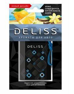Подвесное ароматическое саше для автомобиля Deliss серии Comfort