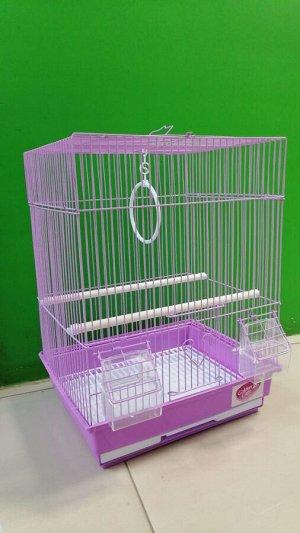 Клетка для птиц Золотая клетка плоская крыша 35*28*43cм, эмаль