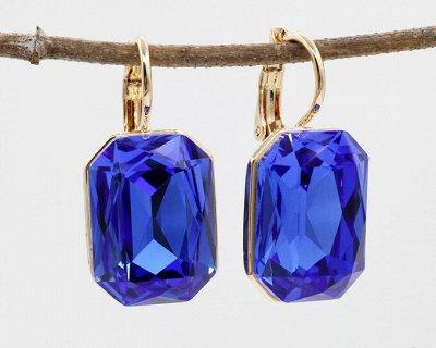 Бижутерия Ve*Vett стильная и яркая — Серьги с чешскими кристаллами