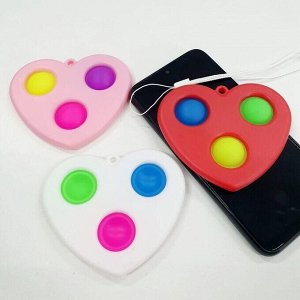 Игрушка-антистресс Simple dimple брелок в форме сердца 10см122
