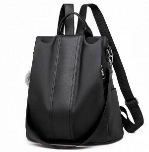 """Рюкзак Рюкзак городской - """"противоугонный"""". Меховой брелок в комплект не входит. И сумка, и рюкзак. 2 в 1. Комплектуется специальным дополнительным ремнем для ношения на плече как сумка. Материал - OX"""