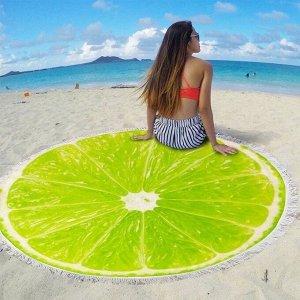 """Полотенце пляжное микрофибра """"Киви"""",150см"""