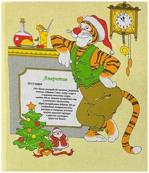 Р. Полотенце 50х63   Купон Вафельное Тигры