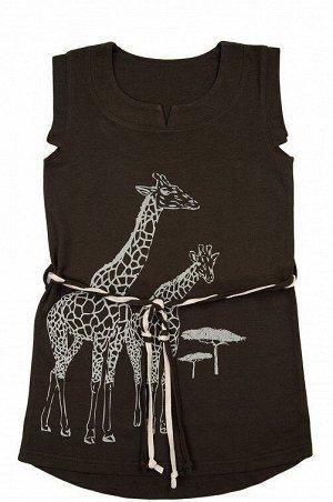 Платье Жирафы / Хаки