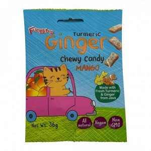 Конфеты имбирные жевательные куркума+манго FanBites 36 г