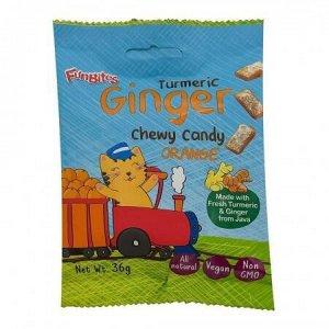 Конфеты имбирные жевательные куркума+апельсин FanBites 36 г