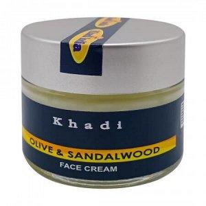 """Питательный крем для лица """"Сандал и Олива"""" Khadi India  50г"""