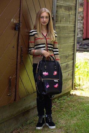 Рюкзак Цвет: Black and Gold, размеры: 35 cm W x 40cm H X 18cm  Сумка -рюкзак для девочек от американского бренда Light+Nine отлично подойдет для школы или прогулок с друзьями. Ультралегкий вместительн
