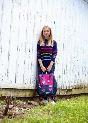 Рюкзак Цвет: Midnight Pink , размеры: 35 cm W x 40cm H X 18cm D Сумка -рюкзак для девочек от американского бренда Light+Nine отлично подойдет для школы или прогулок с друзьями. Ультралегкий вместитель