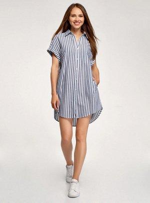 Платье-рубашка свободного силуэта