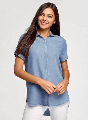Рубашка из лиоцелла с коротким рукавом