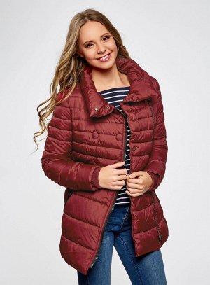 Куртка стеганая на молнии с декоративными пуговицами