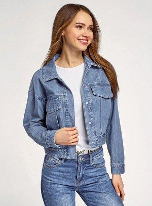 Куртка джинсовая на кнопках