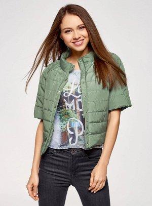 Куртка стеганая с короткими рукавами