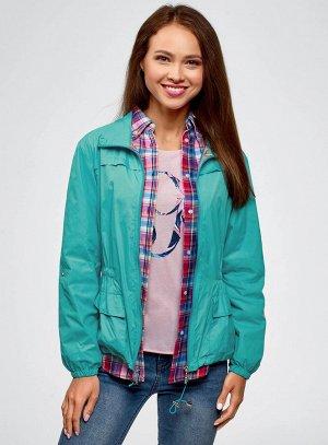 Куртка-ветровка с воротником-стойкой