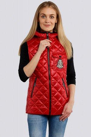 Красный Одними из трендовых предметов женского гардероба 2021-2022 стали жилеты, которые внесут в аутфиты некую «изюминку». Жилет  представлен в строченой ткани и классических расцветках, что позволит