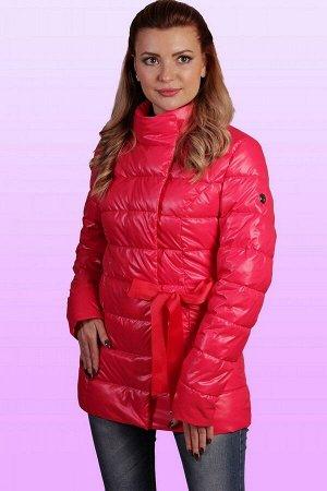 Куртка Весенняя куртка с актуальной прямолинейной стежкой с бантом для тех, кто очень ждал весну. Интересной эту модель делает бант из отделочной тесьмы в цвет основной ткани. Устав от тяжелых зимних