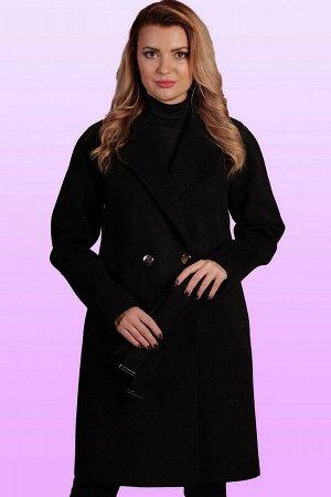 Черный Стильное и элегантное пальто с классическим покроем воротника заявит о безупречности вкуса. Удобный крой изделия и свободный объем придадут максимум комфорта обладательнице данного пальто. Это