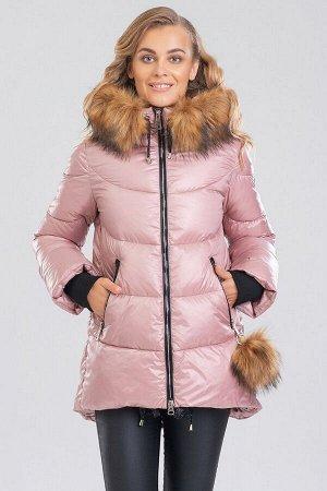Куртка Женские куртки с мехом – это не только модное приобретение, но и залог практичности, комфорта, безукоризненного образа.  Фигурный низ и слегка расклешенные рукава с трикотажными манжетами являю