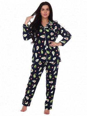 Пижама, домашний костюм Классика 137/синий авокадо