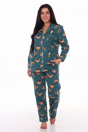 Пижама, домашний костюм Классика 137/лиса