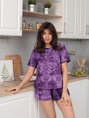 Пижама, домашний костюм Тай дай 830/сиреневый