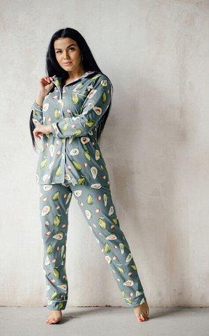 Пижама, домашний костюм Классика 137/олива
