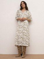 Платье с цветочным принтом PL1142/gradow