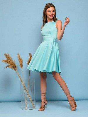 Платье мятного цвета длины мини без рукавов