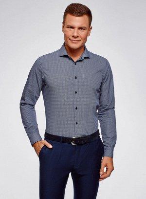 Рубашка приталенная с графичным принтом