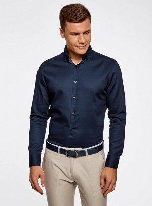 Рубашка приталенная с контрастной отделкой