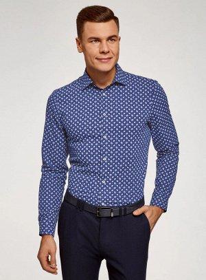 Рубашка принтованная приталенного силуэта