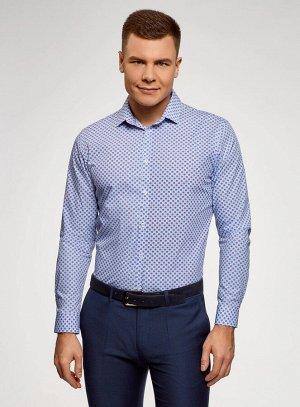 Рубашка хлопковая с графичным принтом