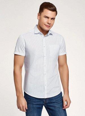 Рубашка хлопковая с короткими рукавами и нагрудным карманом