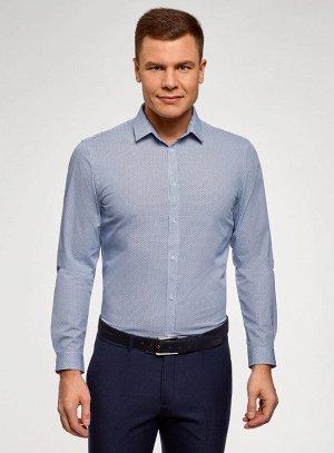 Рубашка приталенная из хлопка