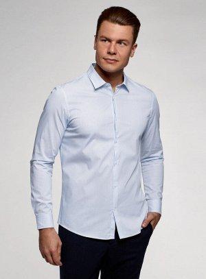 Рубашка из хлопка приталенного силуэта