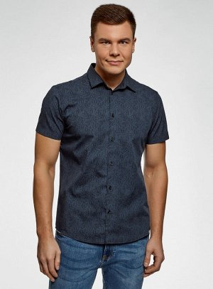 Рубашка хлопковая с коротким рукавом