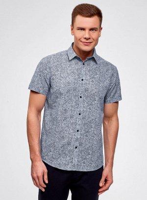 Рубашка принтованная с коротким рукавом