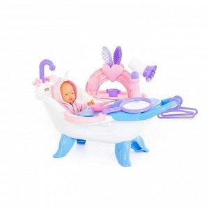 Набор для купания кукол №2 с аксессуарами и пупсом (в коробке)