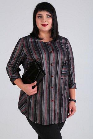 Блуза Блуза Novella Sharm 3566  Состав: ПЭ-95%; Эластан-5%; Сезон: Весна Рост: 170  Блуза в полоску очень актуальна в этом сезоне, поэтому она должна быть в вашем гардеробе. Перед блузы с бочком по к