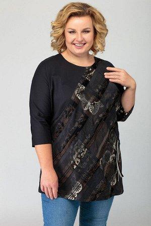 Блуза Блуза Novella Sharm 3578  Состав: ПЭ-100%; Сезон: Весна Рост: 170  Интересная блуза из полоски и плащевки в стиле бохо-станет любимой вещью вашего гардероба. Блуза покроя летучая мышь, с переде