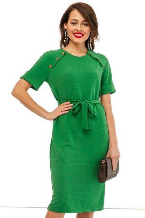 Платье Новый ХИТ от нашего дизайнера! Платье из мягкого трикотажа в сочном зеленом оттенке, очень красивые пуговки украшают изделие! * Платье прямого кроя из мягкого трикотажа, в комплекте поясок; * У