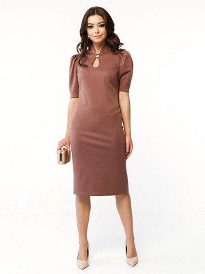 """Платье Нежный и женственный фасон нового платья от наших дизайнеров LADY TAIGA прекрасно дополнит Ваш весенний гардероб! * Эффектное платье прилегающего силуэта в красивом оттенке """"какао""""; * Очень дор"""