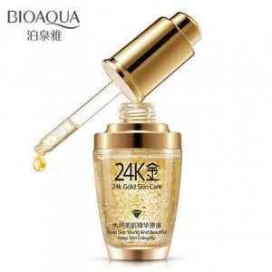 *780887 BIOAQUA Увлажняющая эссенция для лица 24 карата золота, 30 мл, 12шт/уп