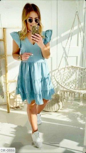 Платье Цвет голубой Замеры по изделию: ОГ 104, ОТ 94, длина 98