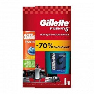 GILLETTE Гель п/бритья SensSkin 75мл+GIL FUSION Гель д/бритья HydraGel SensSkin (д/чув кожи) 200мл